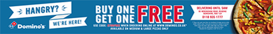 right Buy one Domino's & get one free