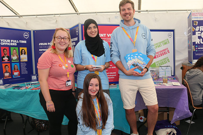 RUSU course reps on hand to help at Freshers' Fayre
