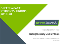 Green Impact Students' Unions 2019-20 Certificate