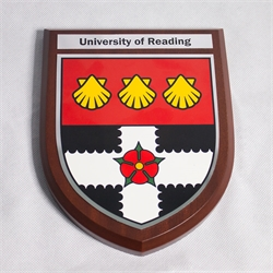 Reading University crested shield