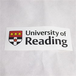 Reading University car sticker