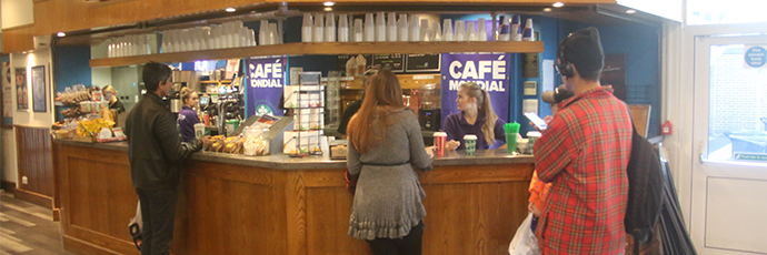 Cafe Mondial at Reading University Students' Union