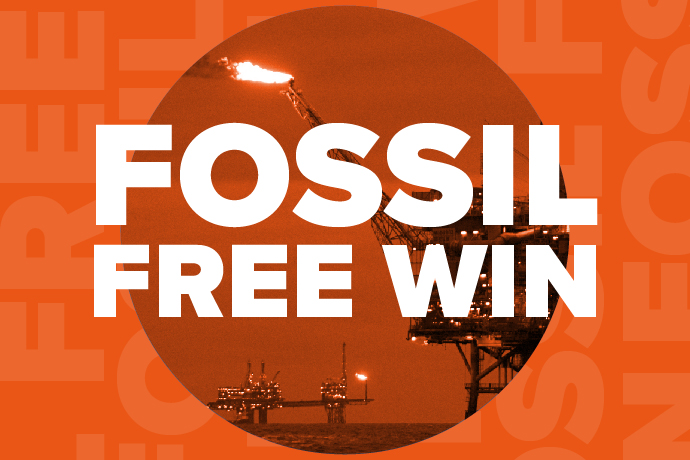 Find out more about RUSU's Fossil Free Win!