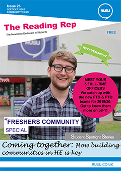 Read issue 26 of the Reading Rep