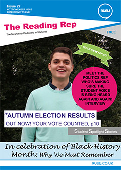 Read issue 27 of the Reading Rep